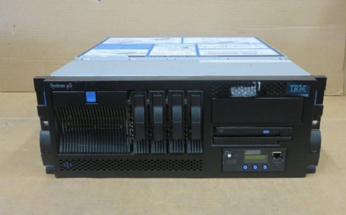 IBM System P5 520 9131-52A p5+ 2-Way 2.1GHZ 8GB RAM 293.6GB HDD 4U Server